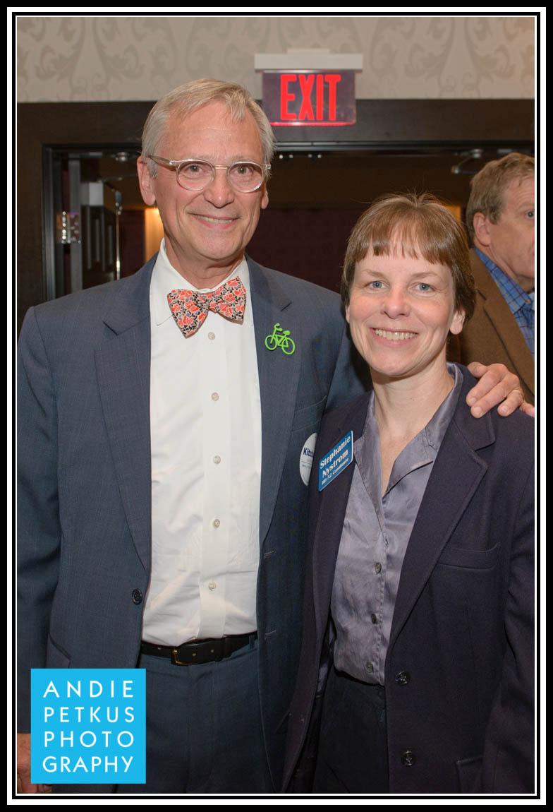 US Rep Earl Blumenauer with Stephanie Nystrom